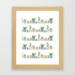 Love is Love Rainbow Cacti Framed Art Print