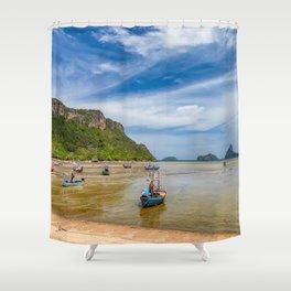 Fishing Boats Thailand Shower Curtain
