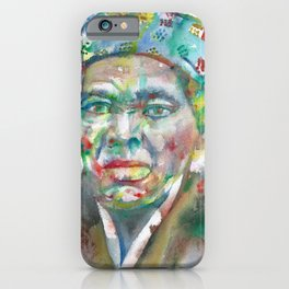 HARRIET TUBMAN watercolor portrait iPhone Case