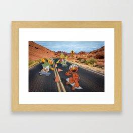 Sesame Skate Framed Art Print