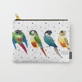 Green cheek conures Carry-All Pouch