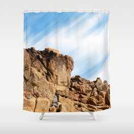 Rocky landscape in the coast of Brittany II Shower Curtain