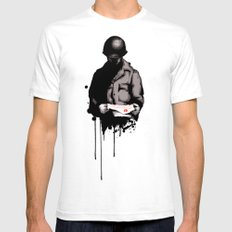 War Letter SMALL White Mens Fitted Tee