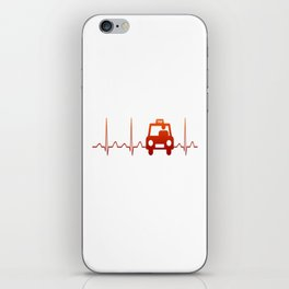 TAXI DRIVER HEARTBEAT iPhone Skin