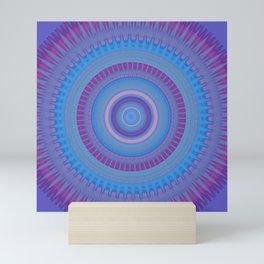 Electric Purple Blue Mandala Mini Art Print