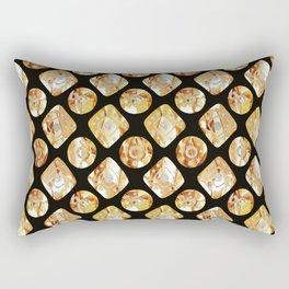 Gold print Rectangular Pillow
