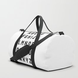 Typography Alphabet #2 Duffle Bag