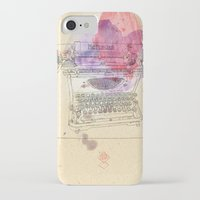 typewriter iPhone & iPod Cases featuring typewriter by Sabine Israel