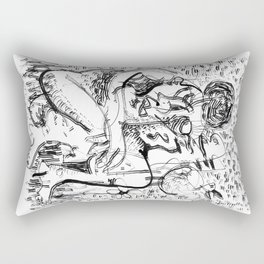 Companions - b&w Rectangular Pillow