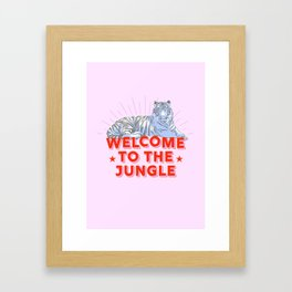 welcome to the jungle - retro tiger Framed Art Print