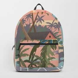 Aloha Hawaii Travel Poster Backpack