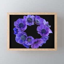 Anemone wreath Framed Mini Art Print