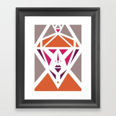 Five Triangle Faces - The Lady Framed Art Print