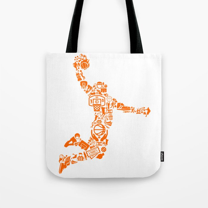 Basketball Art Dunk Tote Bag