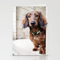 dachshund Stationery Cards featuring Dachshund  by Brooke Davies - Arrow Creek Designs