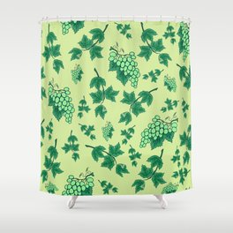 Seamless background from bunches of grapes Shower Curtain