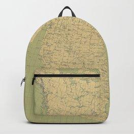 Vintage Map of North America (1912) Backpack