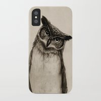 paper iPhone & iPod Cases featuring Owl Sketch by Isaiah K. Stephens