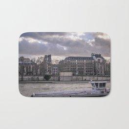 Seine wharf, Paris, France Bath Mat