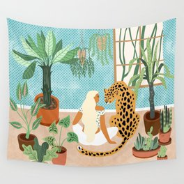 Urban Jungle #illustration #botanical Wall Tapestry