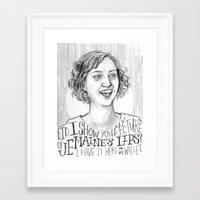 flight of the conchords Framed Art Prints featuring Mel. [Flight of the Conchords] by Jillian Kaye
