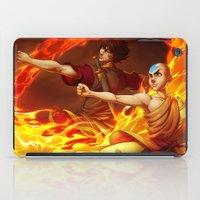 aang iPad Cases featuring Aang and Zuko by artofcarmen