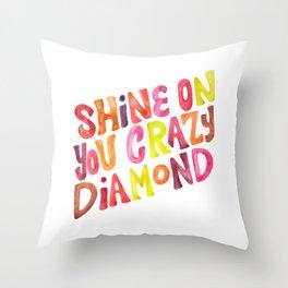 Shine On You Crazy Diamond – Rainbow Palette Throw Pillow