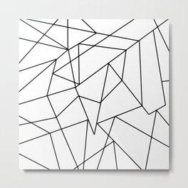 Simple Modern Black and White Geometric Pattern Metal Print