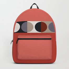 malevich moon || tomato pink Backpack
