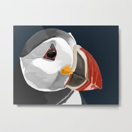 Pablo the Puffin Metal Print