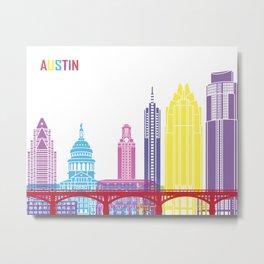 Austin skyline pop Metal Print