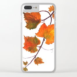 grapevine in autumn Clear iPhone Case