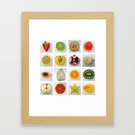 Fruit Typology Framed Art Print