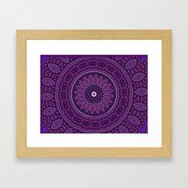 Lovely Healing Mandalas in Brilliant Colors: Purple, Raspberry, Grape, Wine, and White Framed Art Print