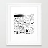scandal Framed Art Prints featuring Scandal Pattern by CLSNYC