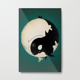 When Willy meets Moby Metal Print
