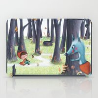 red riding hood iPad Cases featuring Red Riding Hood by Antoana Oreski Illustration