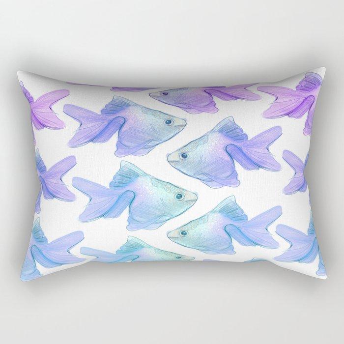 Fish Watercolor Rectangular Pillow