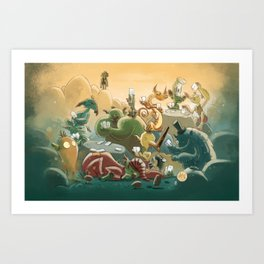 Goblins Drool, Fairies Rule! - Team Goblin Art Print