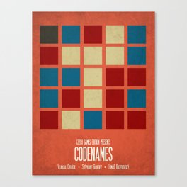 Codenames (Red) - Minimalist Board Games 05B Canvas Print