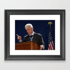 Bill Clinton Framed Art Print