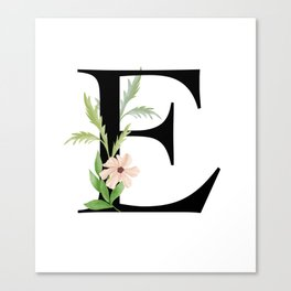Botanical E Canvas Print