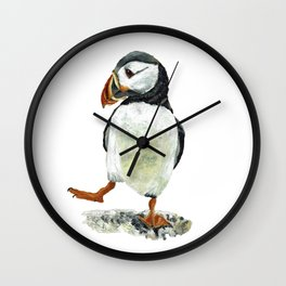 Dancing puffin Wall Clock