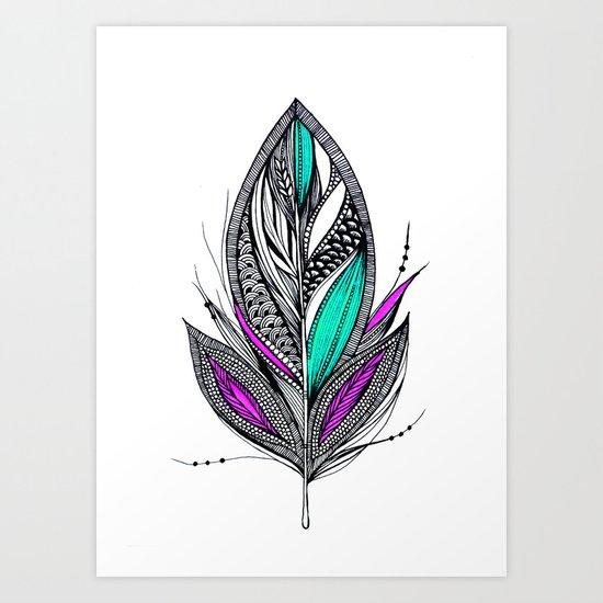 Harvest Feather 2 Art Print