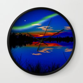 North light over a lake Wall Clock