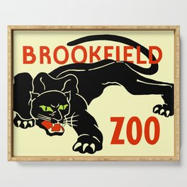 Black panther Brookfield Zoo ad Serving Tray