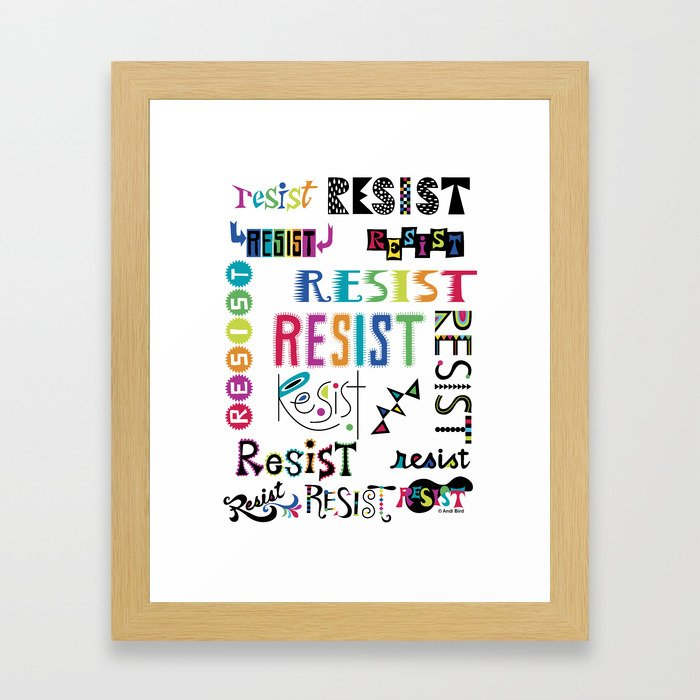 Resist them 3 Framed Art Print