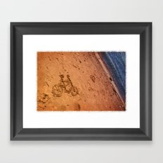 sand bicycle Framed Art Print