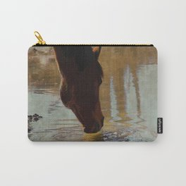 The Watering Hole  - Drinking Percheron Horse Carry-All Pouch