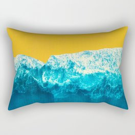 Yellow Tide Rectangular Pillow